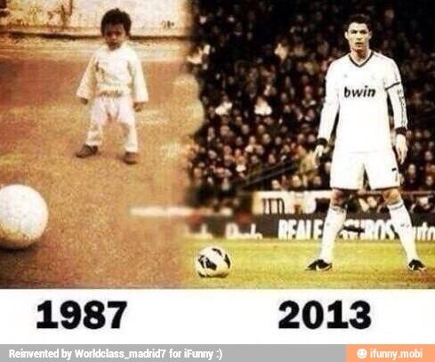 Cristiano Ronaldo a 26-year difference!!!!!