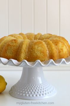 GF, Dairy-free Lemon Coconut Cake