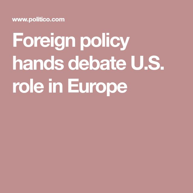 Foreign policy hands debate U.S. role in Europe