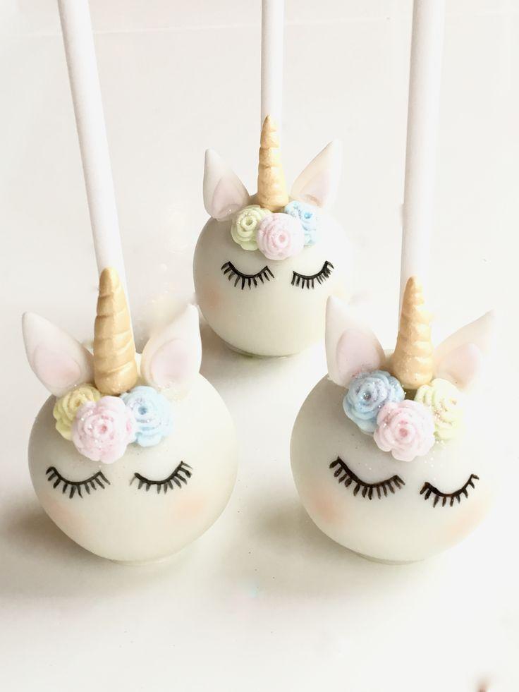 Shhhhhh.... the Unicorns are sleeping! Cute Unicorn Cake Pops... Just don't eat them before bedtime!...