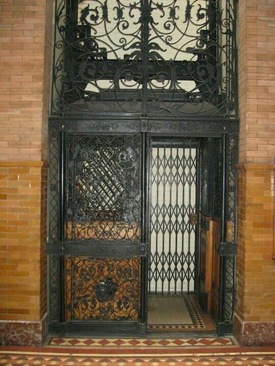 Antique Victorian Elevator  Architectural Design and