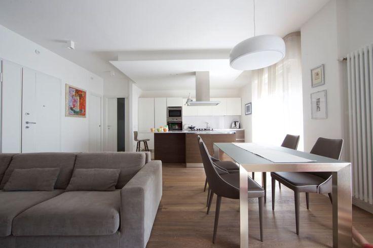 37 dicas sobre como dividir a sala de jantar, a sala de estar e a cozinha (De Rita Paião - Homify )