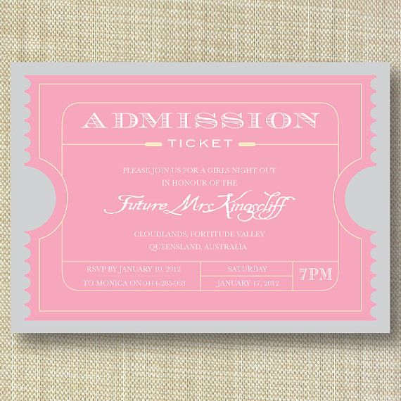 Movie Ticket Vintage invites wedding at theater by HermiasWishes on Etsy. Cute!