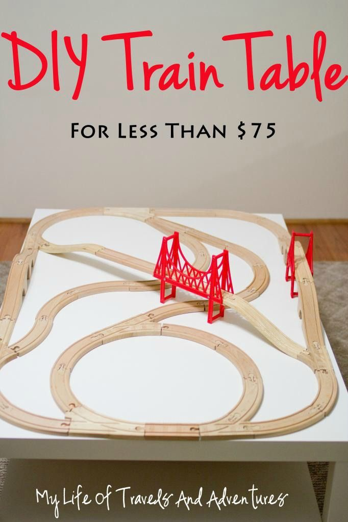 DIY Train Table (for less than $75) |#DIY #TrainTable #IKEAHack