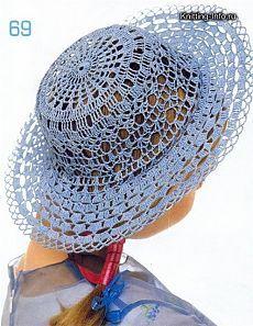 Вязаные летние шляпы. Вязание крючком | Умелые ручки