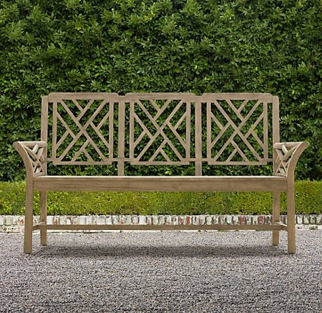 41 best images about outside on pinterest planters zinc for Restoration hardware teak outdoor furniture