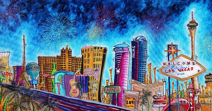 Arte nos hotéis em Las Vegas #viagem #lasvegas #vegas