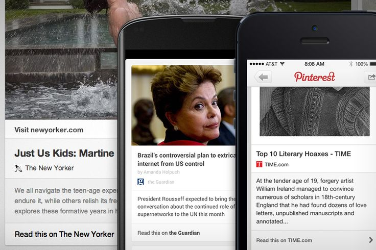 Find and save great reads with new article pins, via the Official Pinterest Blog