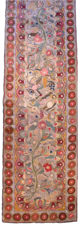 An American Hooked rug    Circa: 1940