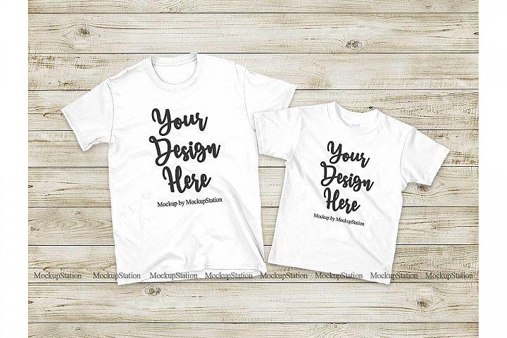 Download Matching Family T Shirts Mockup Parents Kids White Shirts 281616 Clothing Design Bundles Matching Family T Shirts Shirt Mockup Tshirt Mockup