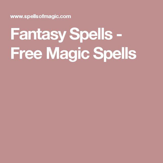 Fantasy Spells - Free Magic Spells