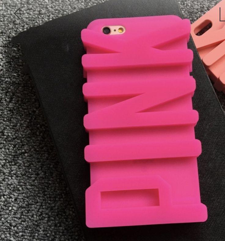 3D Victoria Secret PINK Apple Phone Case