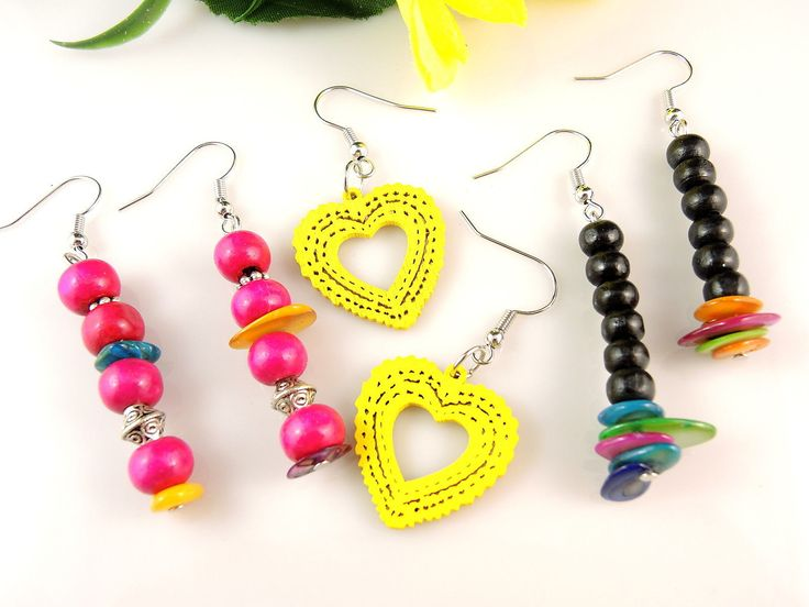 Wood Bead & lightweight wood earrings $7.45  Kartika Jewellery Australia