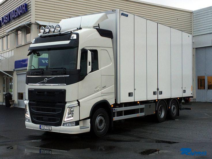 2014-10-08 Nyleverans av en ny Volvo FH 500, 6x2, med I-shift 2 (Dubbelkoppling). Skåp från Närko. Till Anders Alkmans Åkeri AB