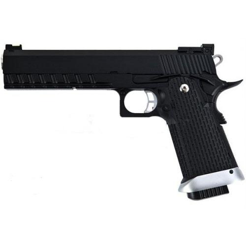 Pistola CO2 BlowBack KJW KP-06, semi-automática, cargador Hi-Cap y Full Metal. Mírala, ¡es preciosa! Haz click en la foto y revisa su ficha. Será en tu compañera ideal para las partidas de Airsoft #pistolas #airsoft