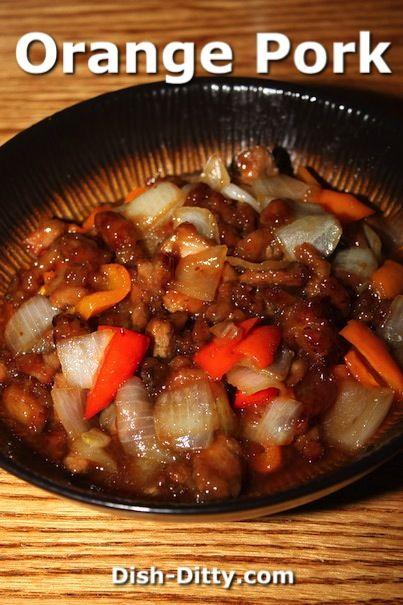 Chinese Orange Pork Stir Fry Recipe - http://www.dish-ditty.com/recipe/chinese-orange-pork-stir-fry-recipe/