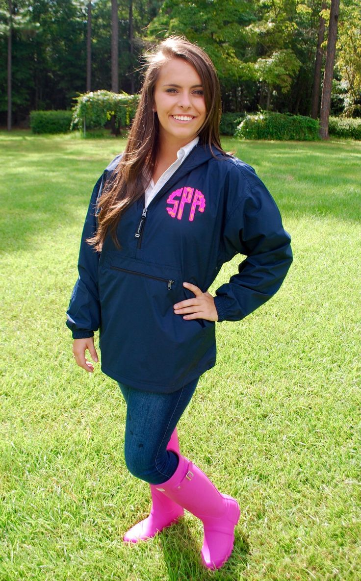 A personal favorite from my Etsy shop https://www.etsy.com/listing/245146603/monogrammed-pullover-jacket-with-lilly