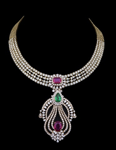 For a semi-formal look.    VOW stands for your 'Very Own Wish'. We believe that invention, is innovation, and this is the spirit which embodies all of Varuna D Jani's exclusive VOW creations. The jewelry conceals an ingenuous link adjustment system in its interwoven shape allowing the same piece to offer multiple options through different occasions.   #Jewellery #FineJewellery #Diamonds #Designer #VarunaDJani