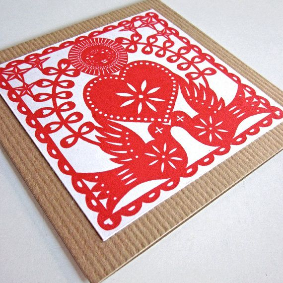 Card  Heart and Doves  Gocco by atelier22, $3.50La Saint Valentine, Gocco Screens, Birds Cards, Screens Prints, Valentine Cards, Valentine Art, Dove Cards, Cards Heart, Cards Gocco