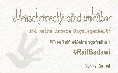 Menschenrechte sind unteilbar und keine innere Angelegenheit! #RaifBadawi #SaudiArabien #Meinungsfreiheit #FreeRaif #Menschenrechte #humanrightslogo