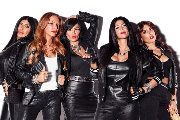"""Angela """"Big Ang"""" Raiola starred on the hit reality show """"Mob Wives"""" for five season. Season 6, which Big Ang stars in, is currently airing on VH1. It is the series' last season. Ang is picture here (l.) with her costars Drita D'Avanzo, Renee Graziano, Alicia DiMichele and Natalie Guercio."""
