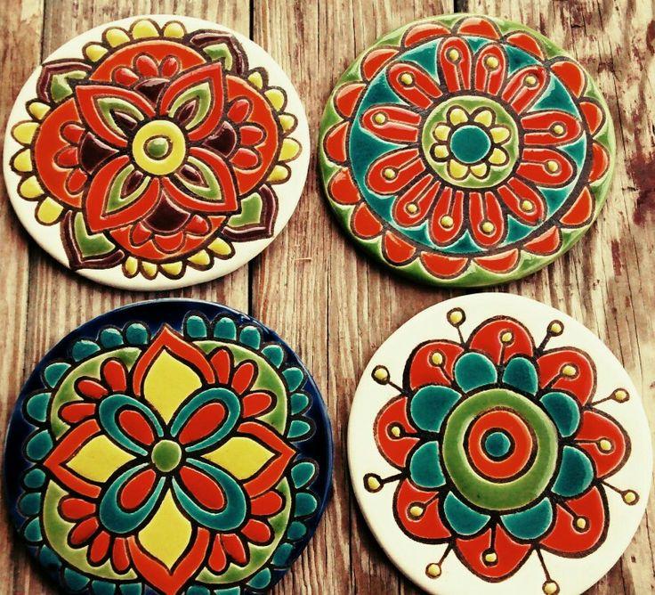 Mandalas de cerámica !!!! Técnica cuerda seca !!!