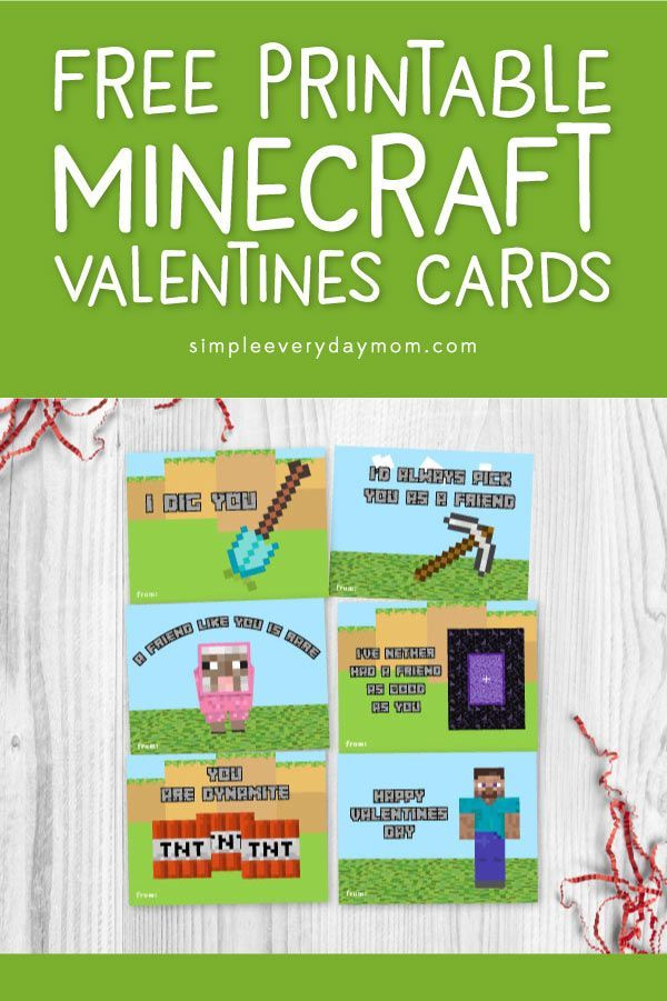 The Best Free Printable Minecraft Valentines For Boys Mormon Mom