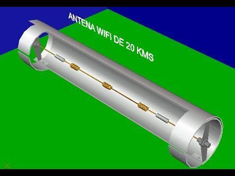Diseño de Antena Wifi Ultra Potente /Construcción Funcionamiento y Prueba  / # 3 TODO EN UNO - YouTube