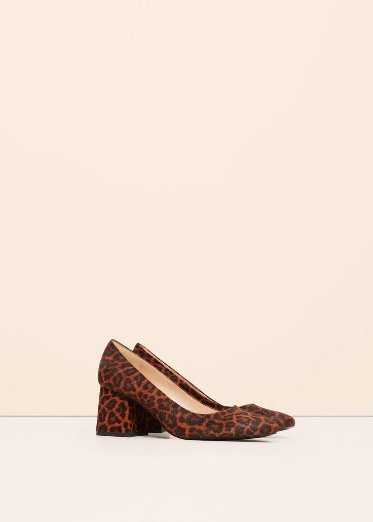 Schoenen van leer en bont -  Grote maten | Violeta by MANGO Nederland