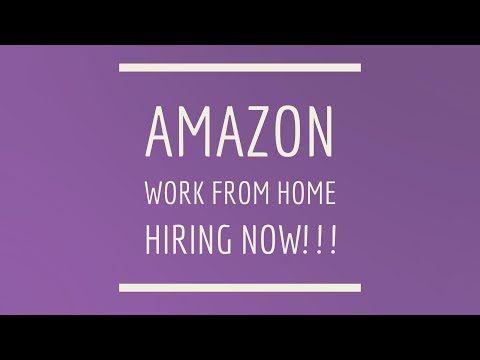 Amazon Work From Home Hiring NOW! 7/7/2017 https://i.ytimg.com/vi/3qr5bSAzWr0/hqdefault.jpg
