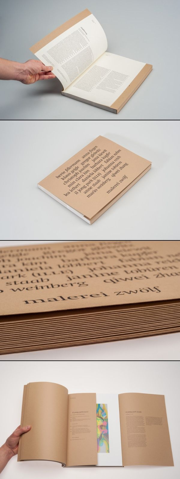 Cover is bygger + beautiful  finishing // like individual folders of paper content bound together