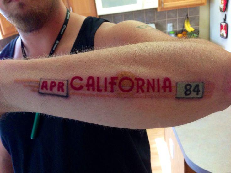 California tattoo 1984 license plate rich tattoos