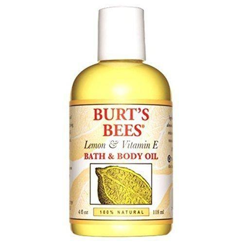 Burt's Bees 100% Natural Lemon and Vitamin E Body and Bath Oil 4 Ounces
