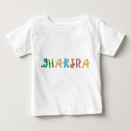Shakira Baby T-Shirt - baby birthday sweet gift idea special customize personalize