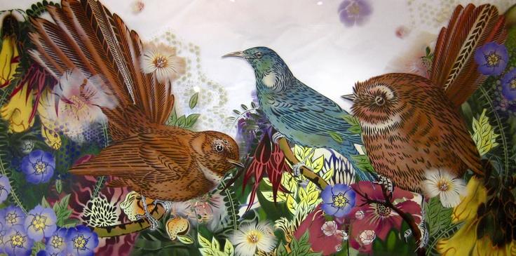 Birds by NZ artist Flox