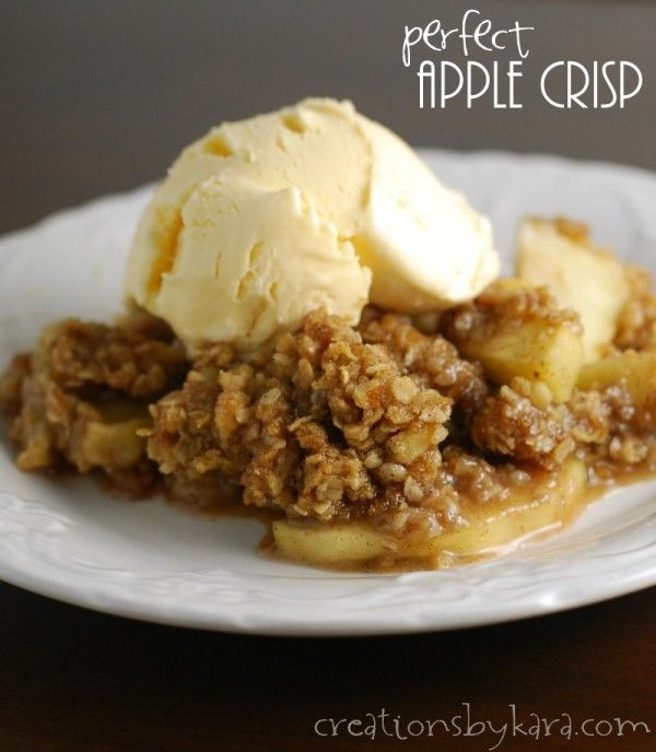 Double Crumb Apple Crisp - This is the BEST apple crisp I've ever had. I thought about stealing my mom's bowl right from her hands. Serve with vanilla ice cream. Just do it.