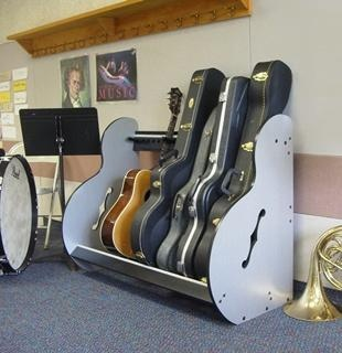 This Is The Side View Of The Band Room Guitar Storage Rack. More Detailsu2026