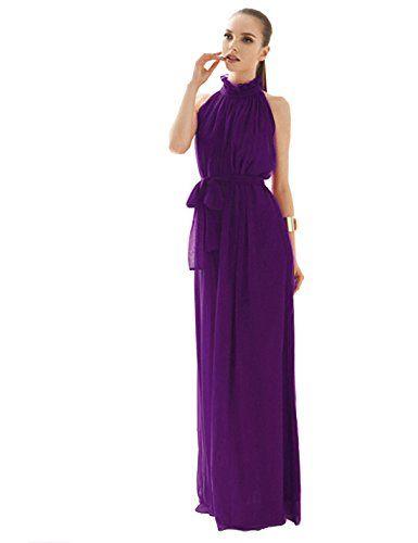 Yacun Women's Fashion Ruffle Neck Sleeveless Chiffon Gown-Purple Yacun http://www.amazon.com/dp/B00MWO5OL2/ref=cm_sw_r_pi_dp_udtRvb1YRGNVV