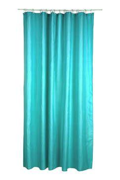 Rideau de douche turquoise uni
