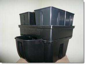 Système hydroponique à 4 bacs avec un réservoir de 15 à 20 litres