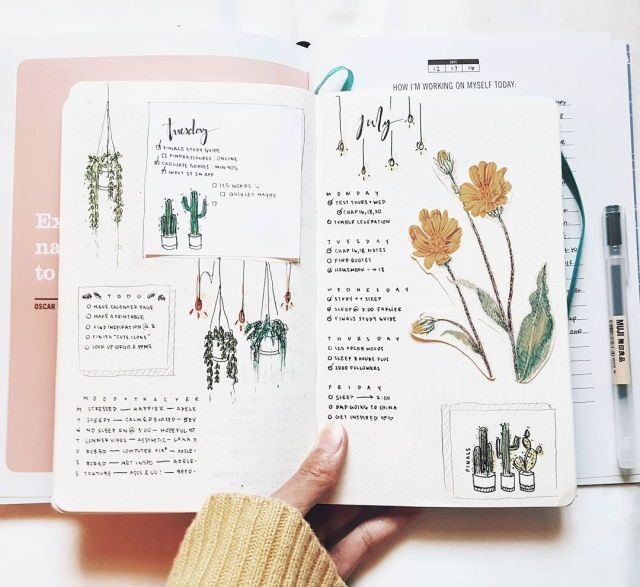 833 best images about bullet journal hobonichi on for Minimal art journal