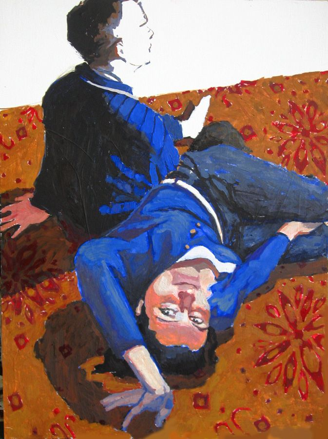 portret para Urbaniak malarstwo couple portrait painting