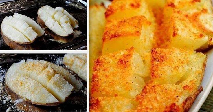 Pečené bramborové mřížky