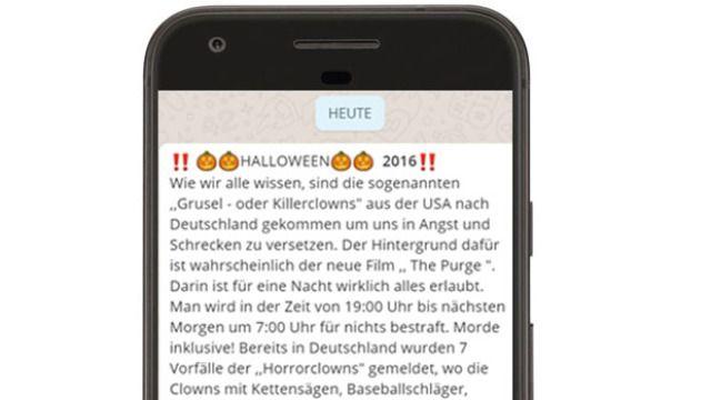 Aktuell! Killerclowns auf WhatsApp: Nachricht versetzt User in Panik - http://ift.tt/2egFgSk