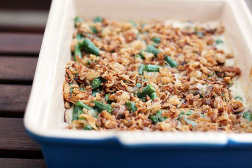 This is going on the Thanksgiving menu this year! Green Bean Casserole from Scratch (it was HEAVENLY)