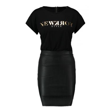 Jurk Nfakela voor Dames. Zwart . Bestel online bij Coolcat.