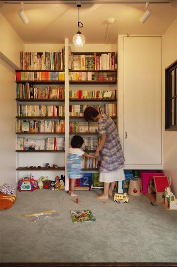 リフォーム・リノベーションの事例|キッズスペース 図書コーナー|施工事例No.215マンションでも・・・ノスタルジーを感じる住まいに|スタイル工房