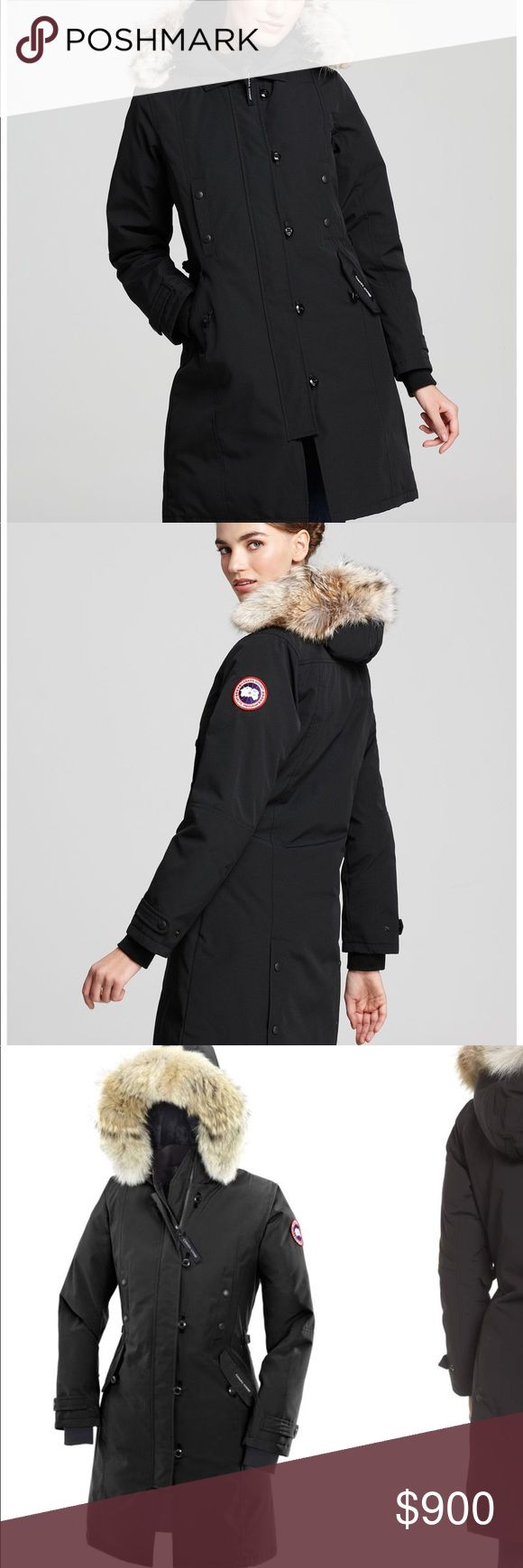 🖤Canada Goose Kensington Parka🖤 🖤Canada Goose Kensington Parka🖤 BRAND NEW! With tags!! Gorgeous Canada Goose Kensington Parka is black with tan Fox Fur. Most Sought after Canada Goose Coat for Women! SIZE: Large. Best for room! 3/4 length to cover up to mid thigh. Will come with tags on as pictures and saks garment bag to keep it stored. Canada Goose Jackets & Coats Puffers