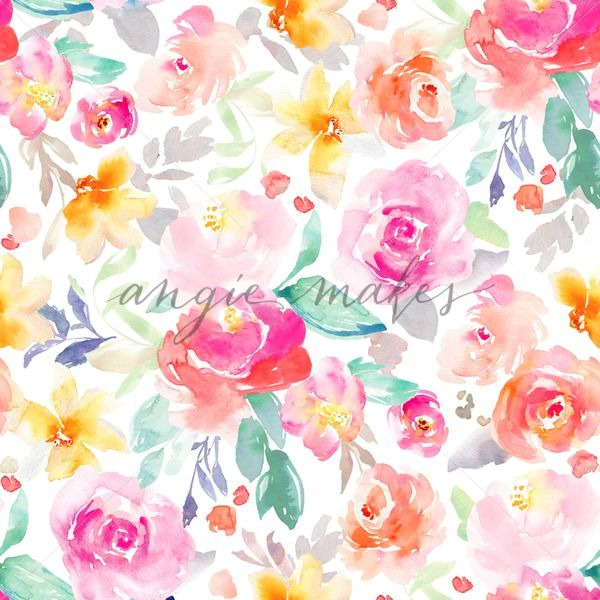 Pink Watercolor Floral Pattern Background Watercolor Floral