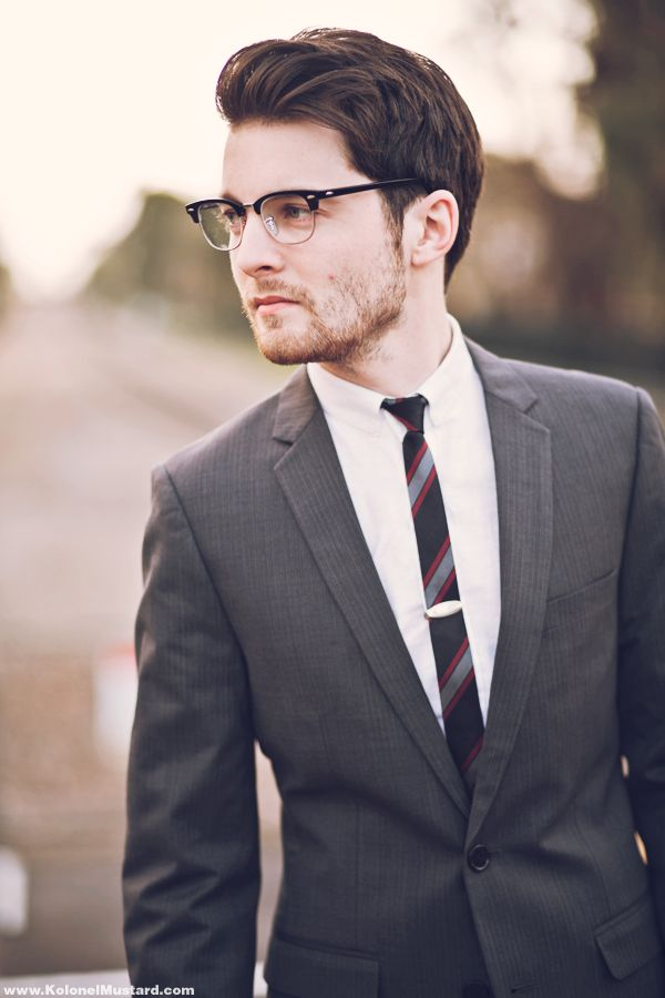 33f887324b63 slim suit slim tie | menswear | Men eyeglasses, Mens glasses, Stylish men